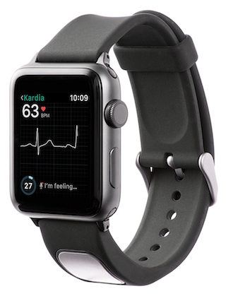 AliveCor launches ECG-sensing Apple Watch strap, SmartRhythm app